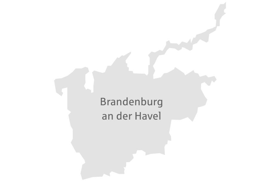 Brandenburg an der Havel Karte